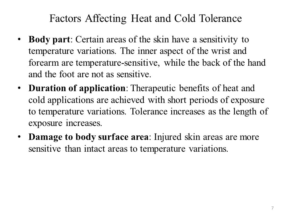 Factors Affecting Heat and Cold Tolerance