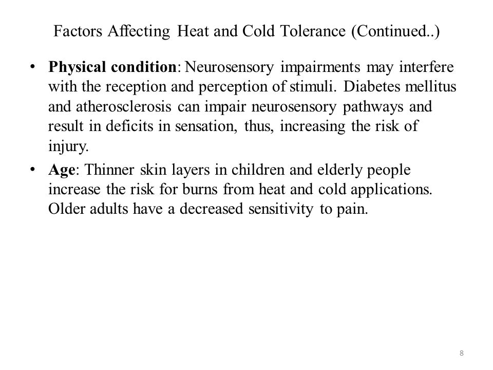 Factors Affecting Heat and Cold Tolerance (Continued..)