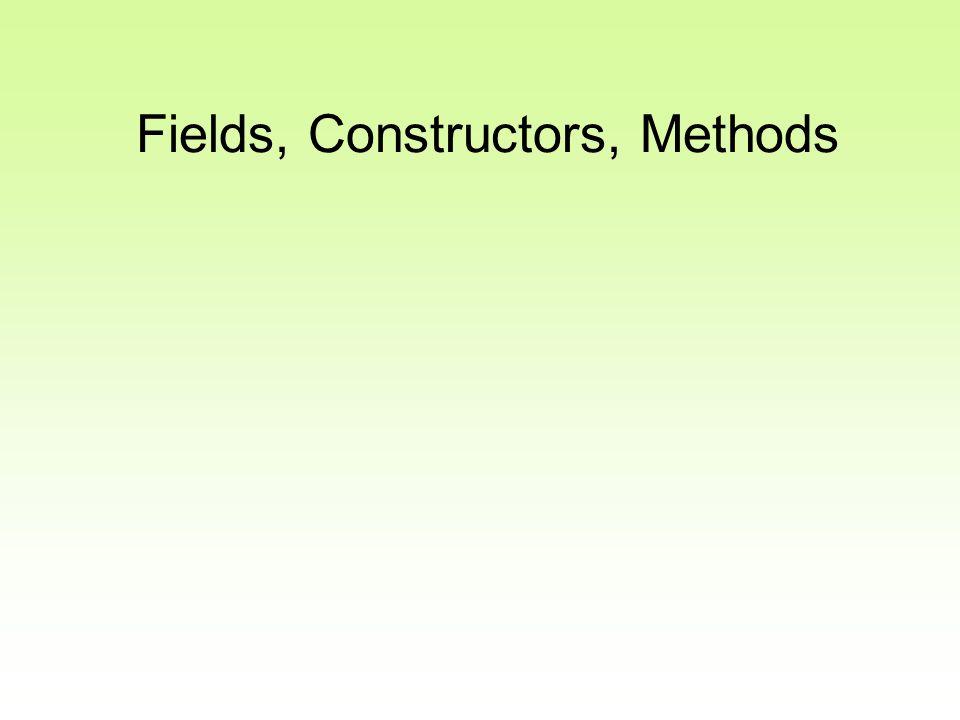 Fields, Constructors, Methods