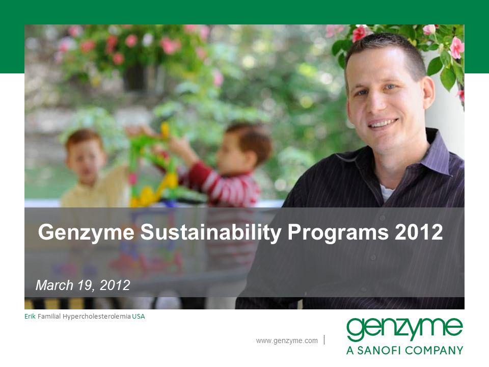 Genzyme Sustainability Programs 2012