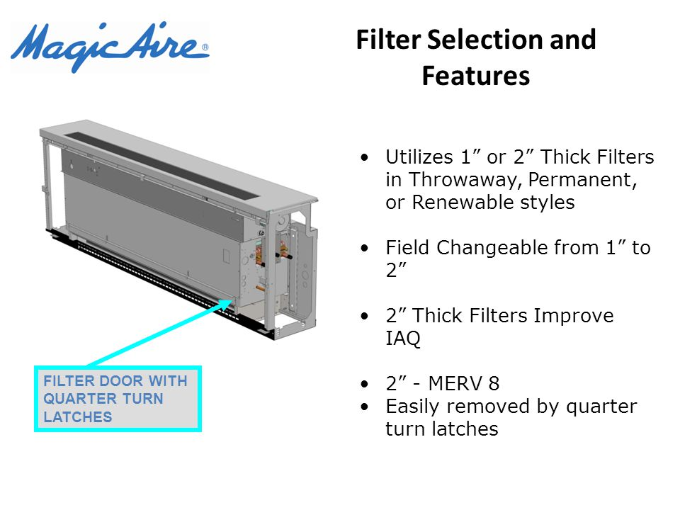 Filter Selection and Features