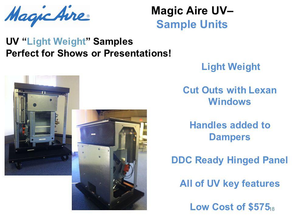 Magic Aire UV– Sample Units