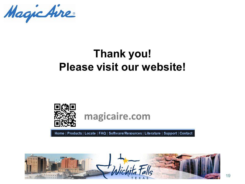 Please visit our website!