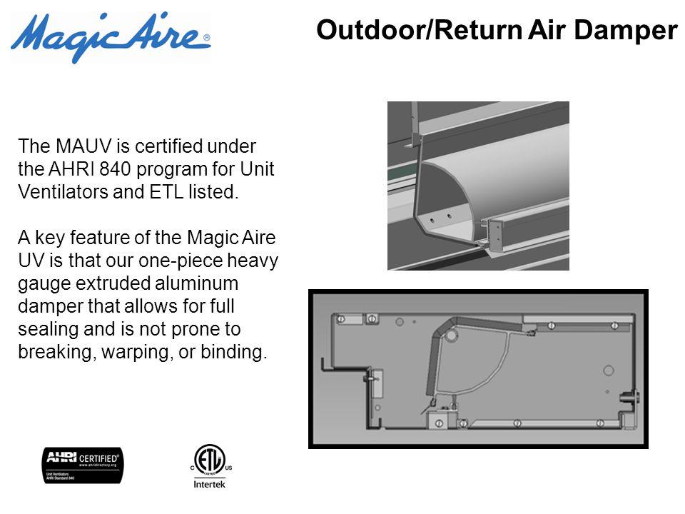Traditional unit ventilators uvf uhf ppt video online download 5 outdoorreturn air damper cheapraybanclubmaster Images
