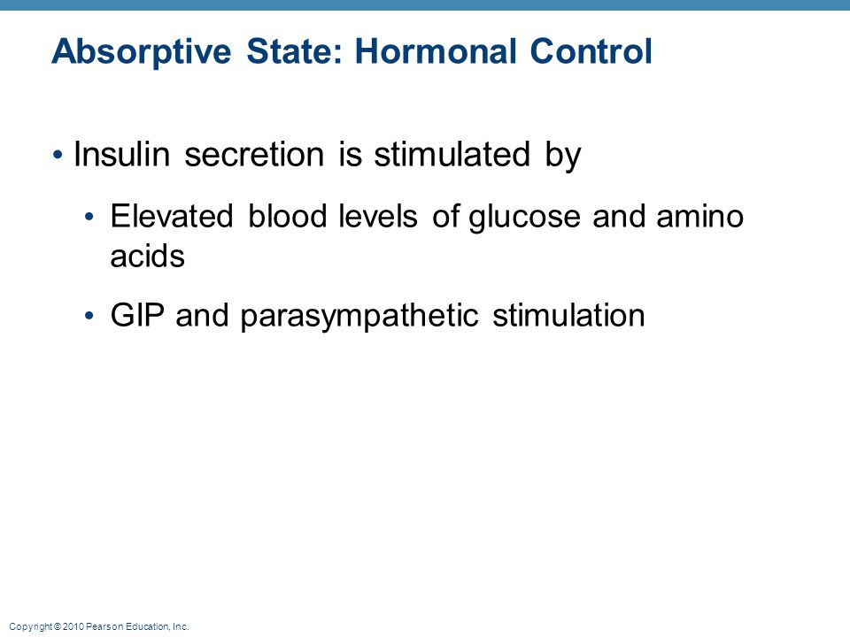 Absorptive State: Hormonal Control