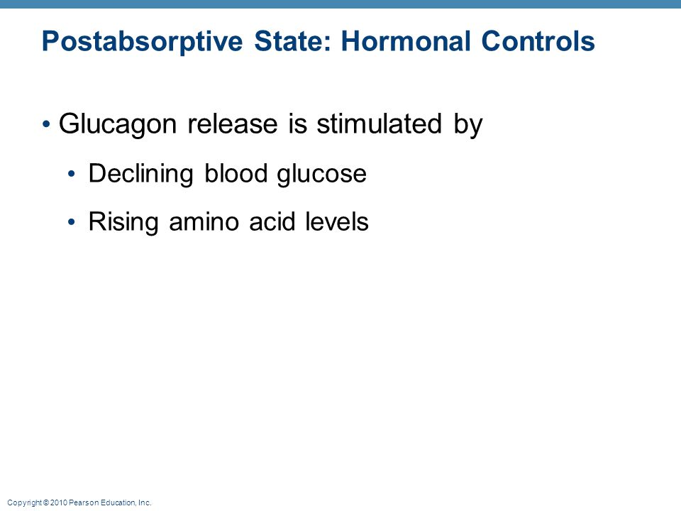 Postabsorptive State: Hormonal Controls