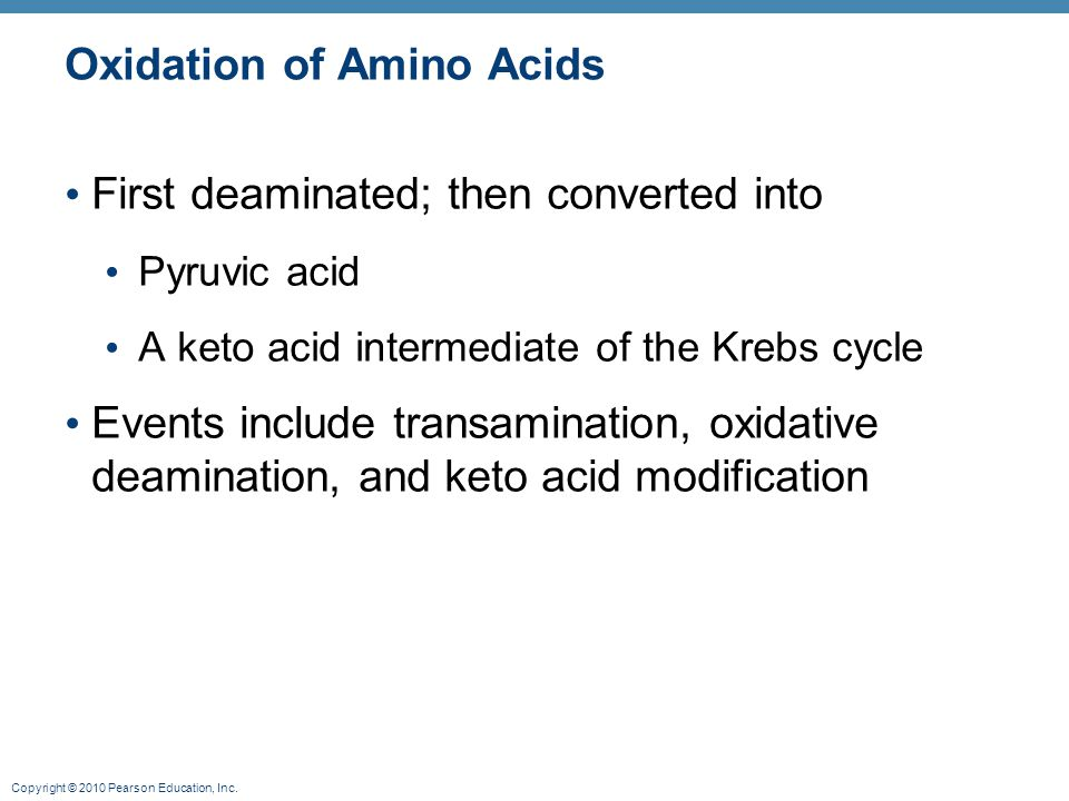 Oxidation of Amino Acids