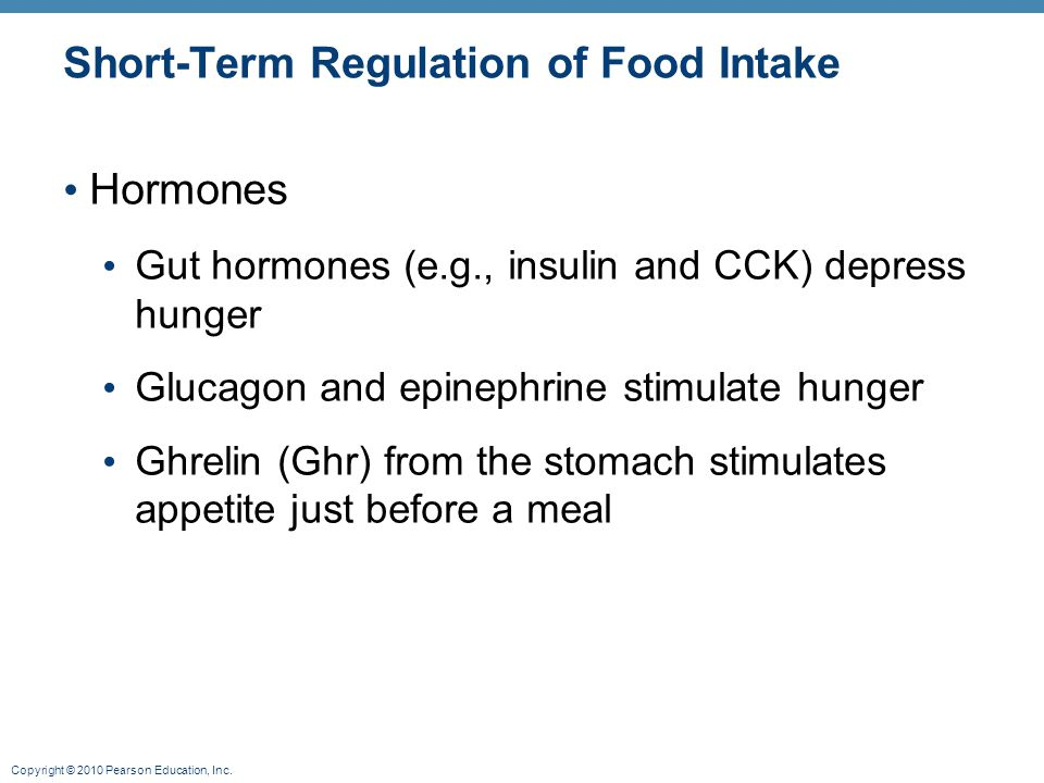 Short-Term Regulation of Food Intake