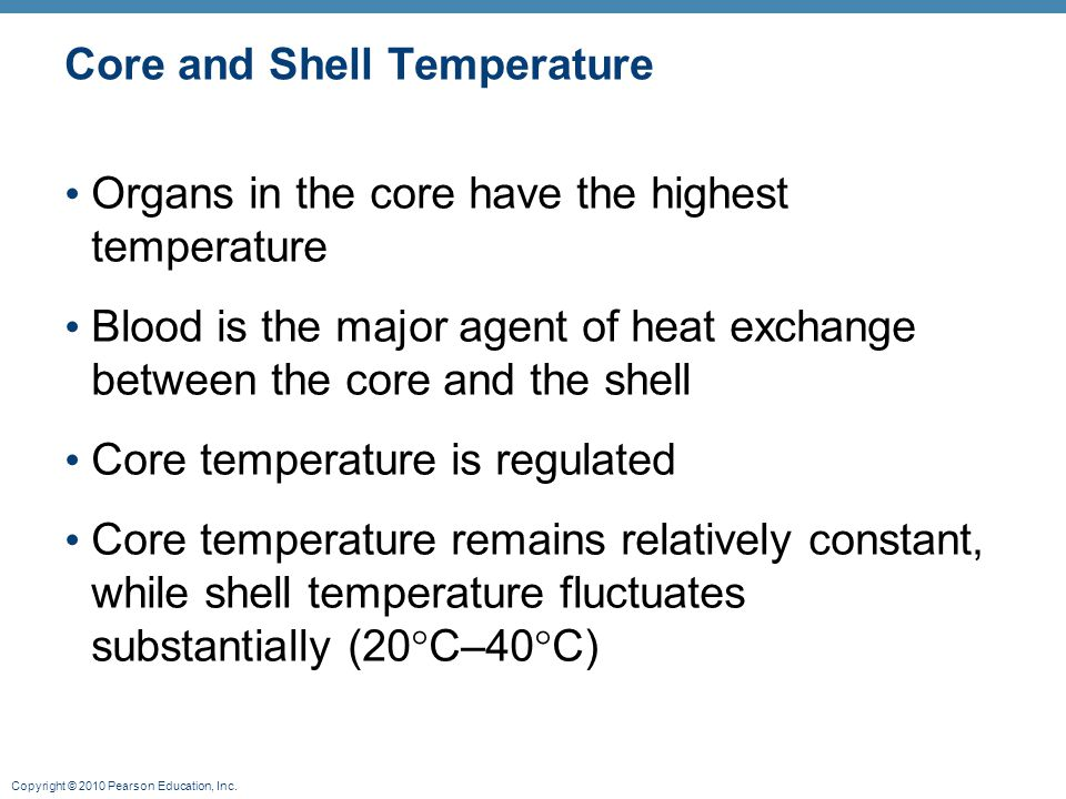 Core and Shell Temperature