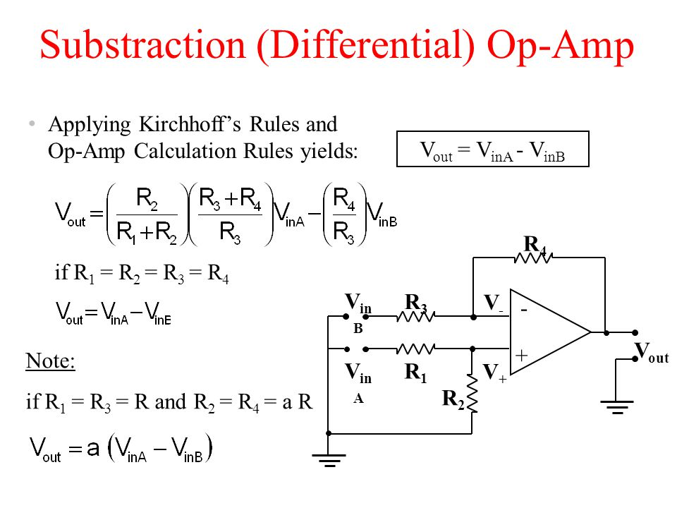 Substraction (Differential) Op-Amp