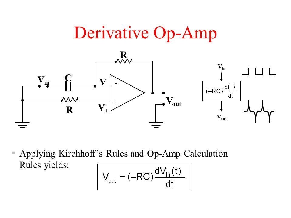 Derivative Op-Amp R C Vin V- - Vout + V+