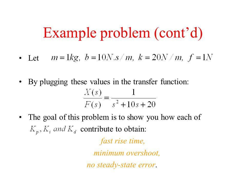 Example problem (cont'd)