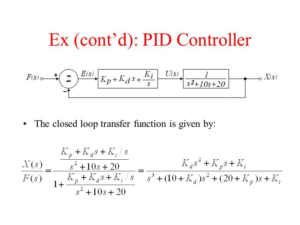 Ex (cont'd): PID Controller