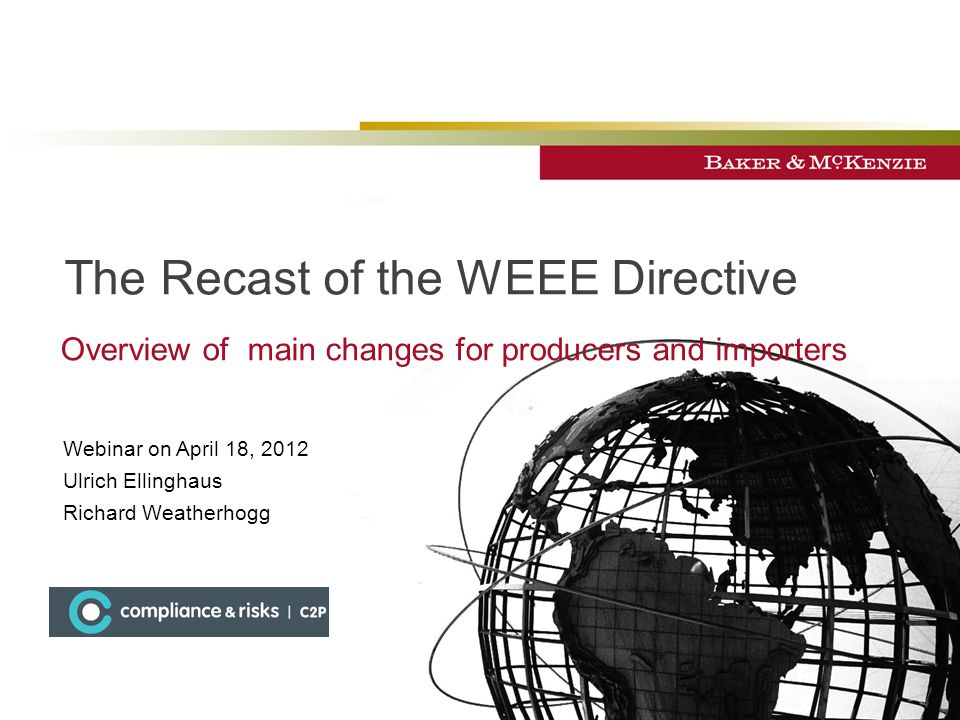 The Recast of the WEEE Directive