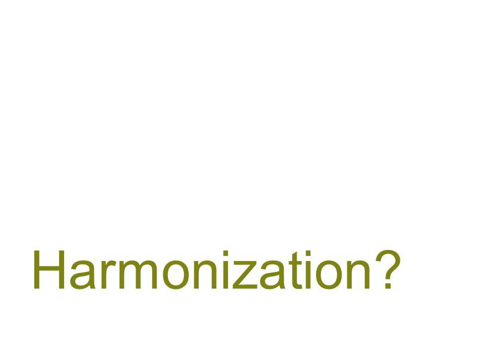 Harmonization