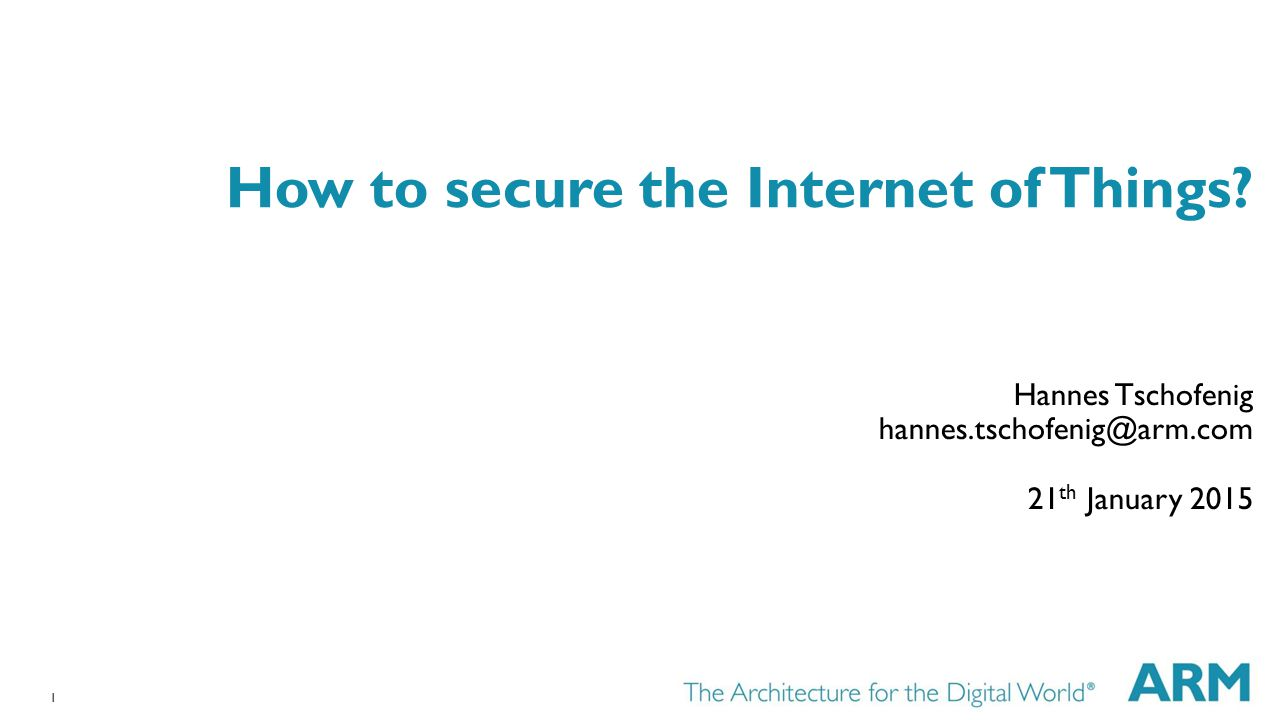 How to secure the Internet of Things