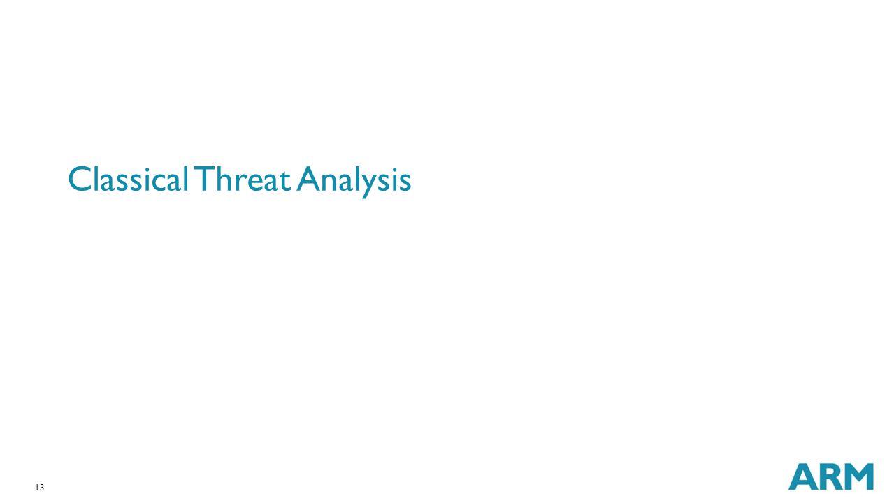 Classical Threat Analysis