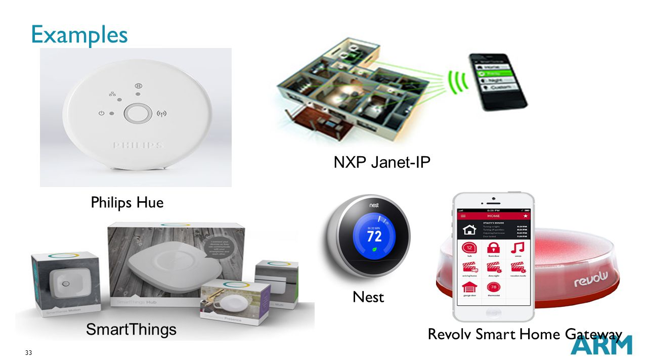 Examples NXP Janet-IP Philips Hue Nest SmartThings