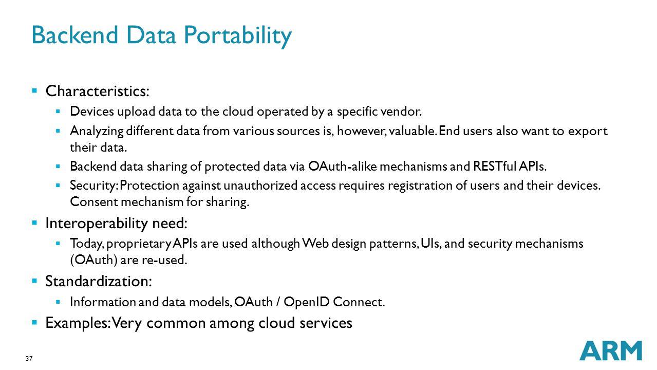 Backend Data Portability