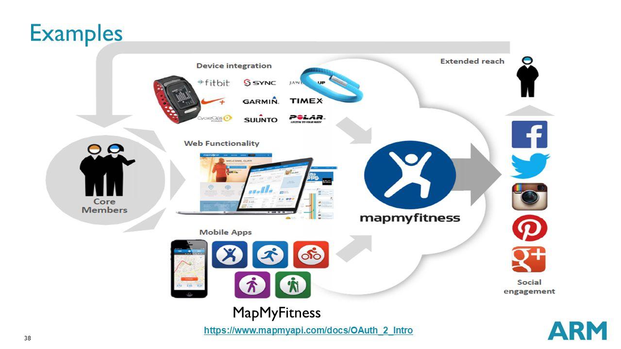 Examples MapMyFitness https://www.mapmyapi.com/docs/OAuth_2_Intro