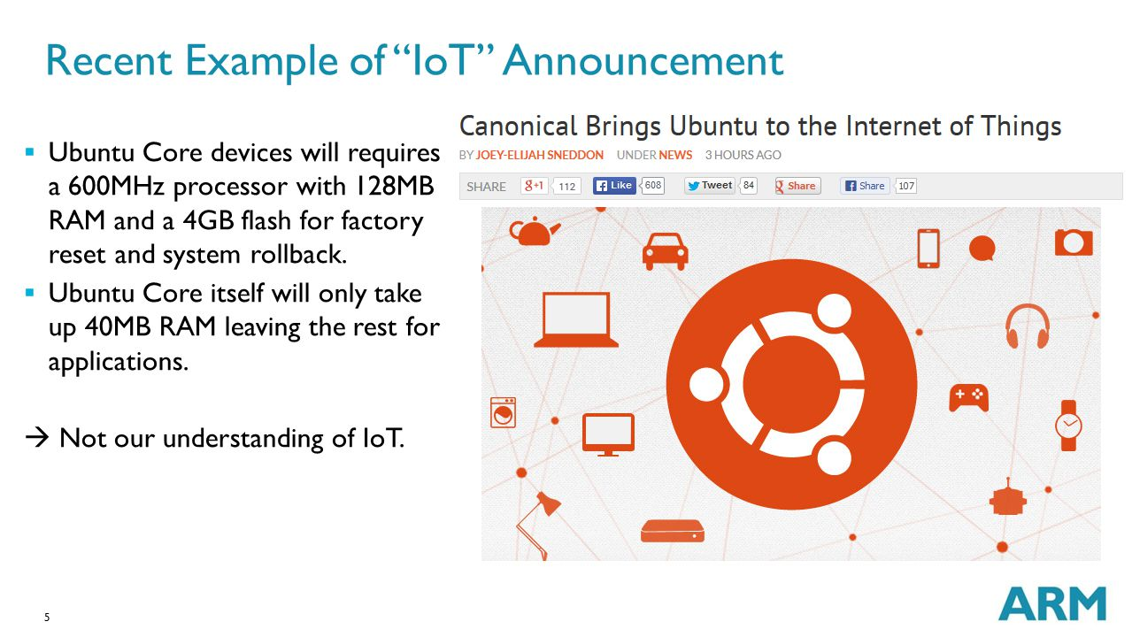 Recent Example of IoT Announcement
