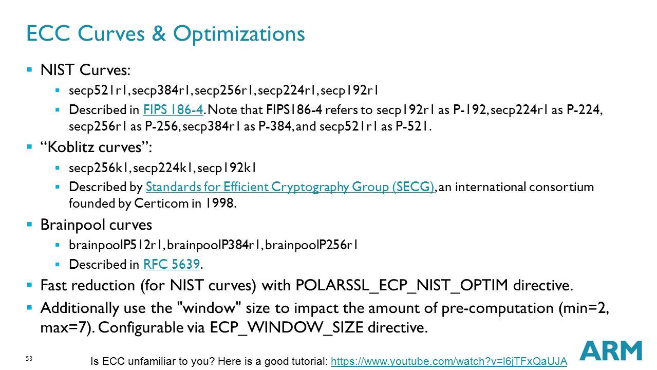 ECC Curves & Optimizations