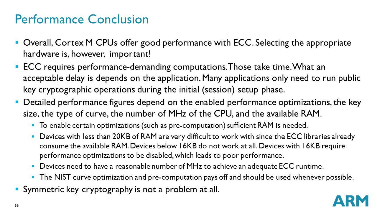 Performance Conclusion