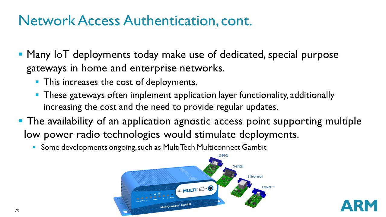 Network Access Authentication, cont.