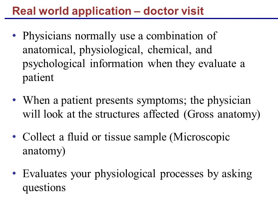Real world application – doctor visit