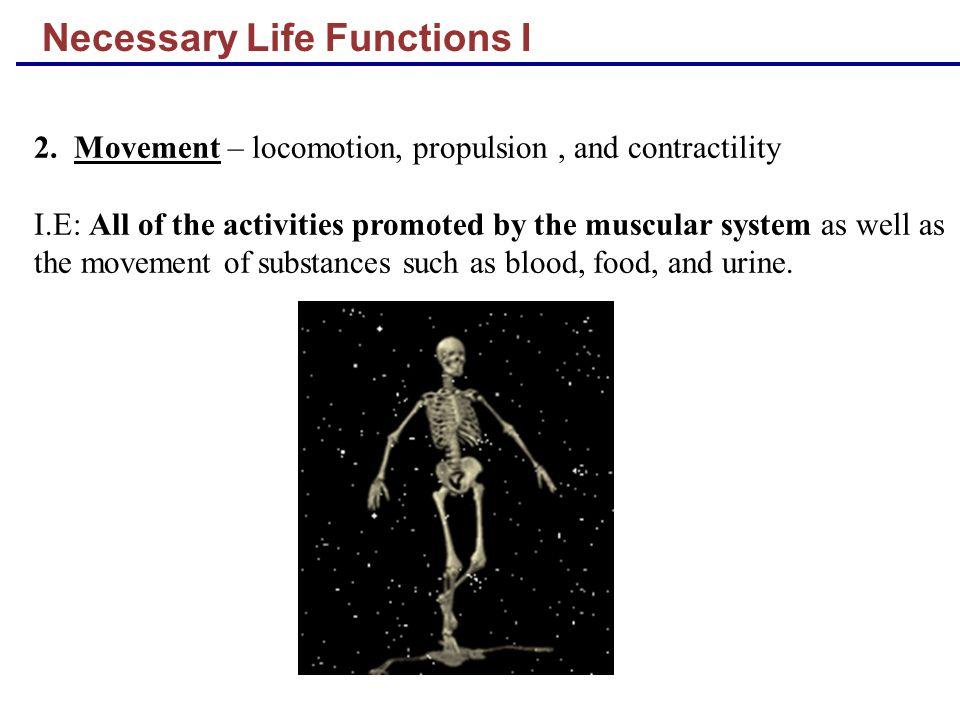 Necessary Life Functions I