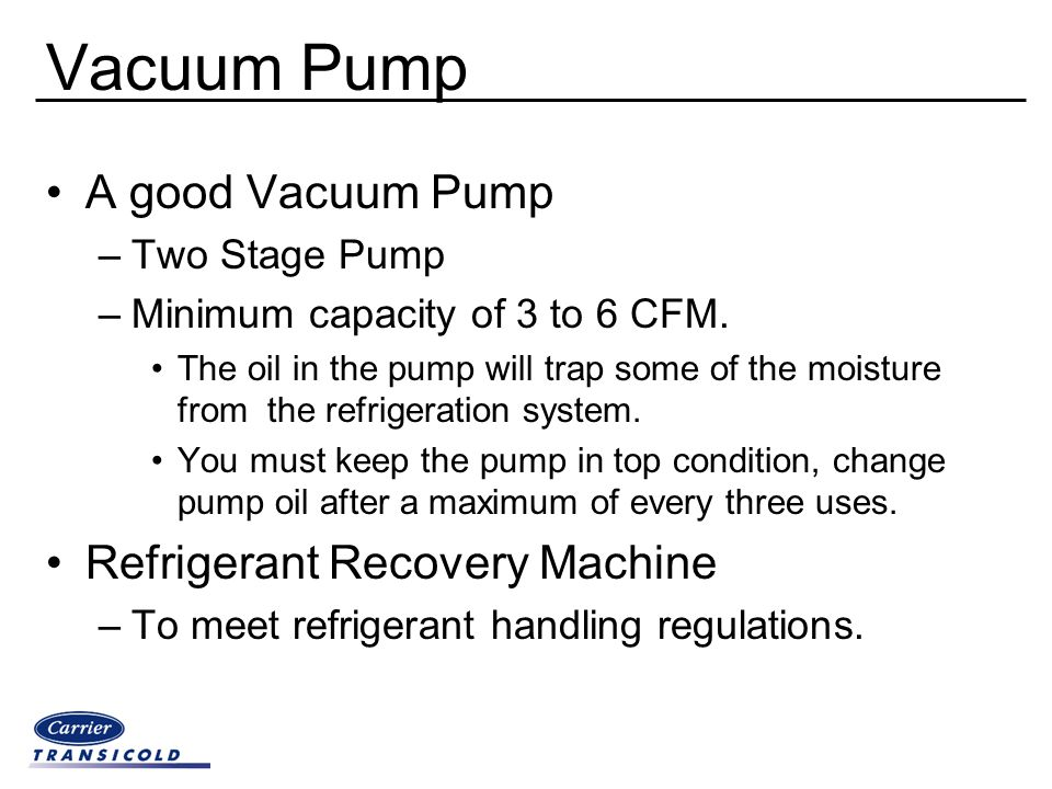 Vacuum Pump A good Vacuum Pump Refrigerant Recovery Machine
