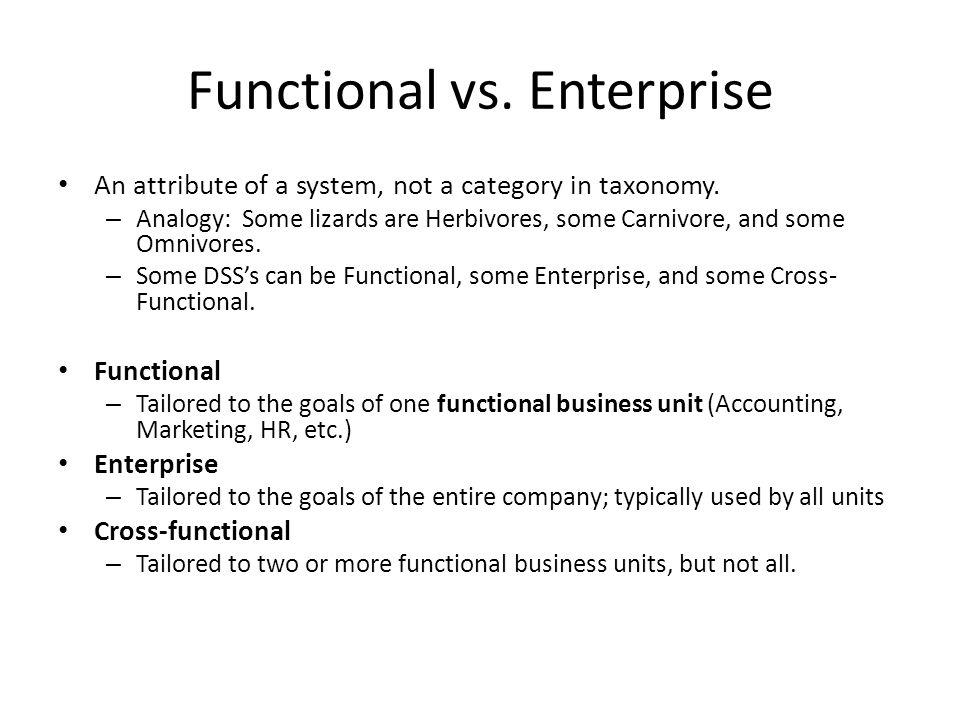 Functional vs. Enterprise