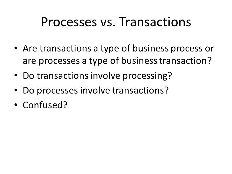 Processes vs. Transactions
