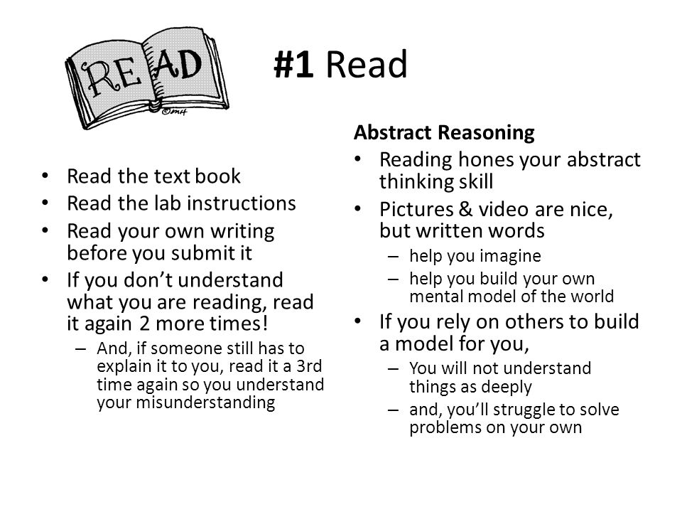 #1 Read Abstract Reasoning Reading hones your abstract thinking skill