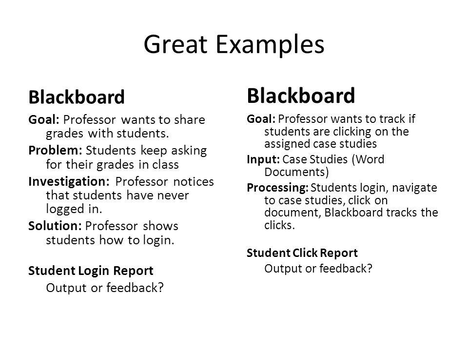 Great Examples Blackboard Blackboard