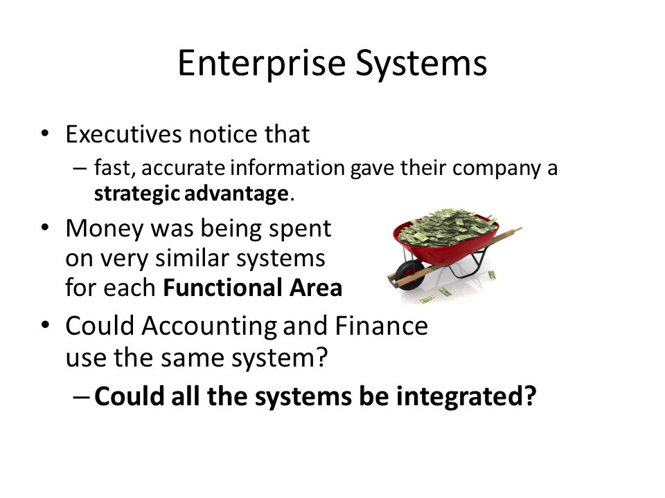 Enterprise Systems Could Accounting and Finance use the same system