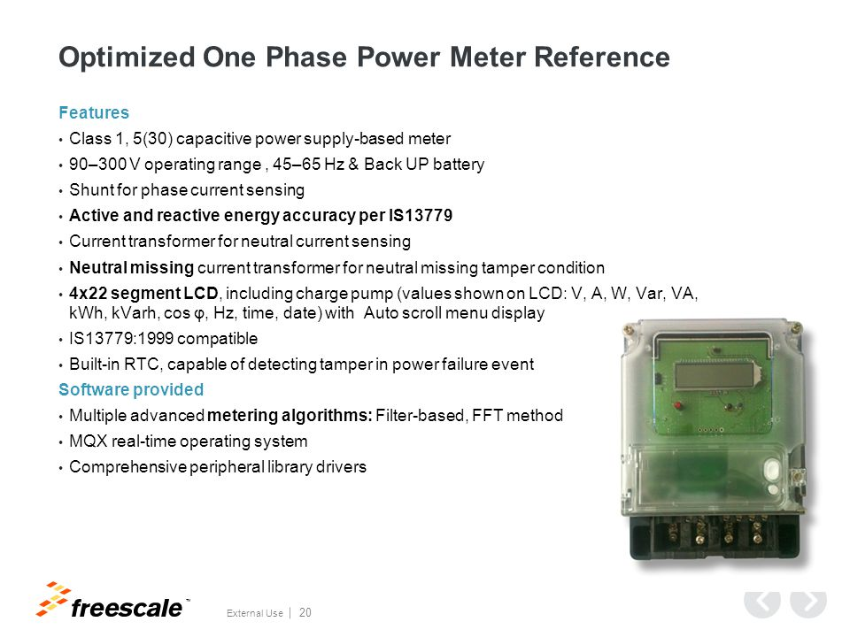 Two Phase Power Meter Reference Design