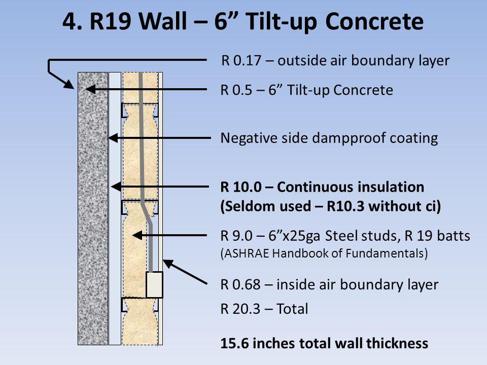 4. R19 Wall – 6 Tilt-up Concrete