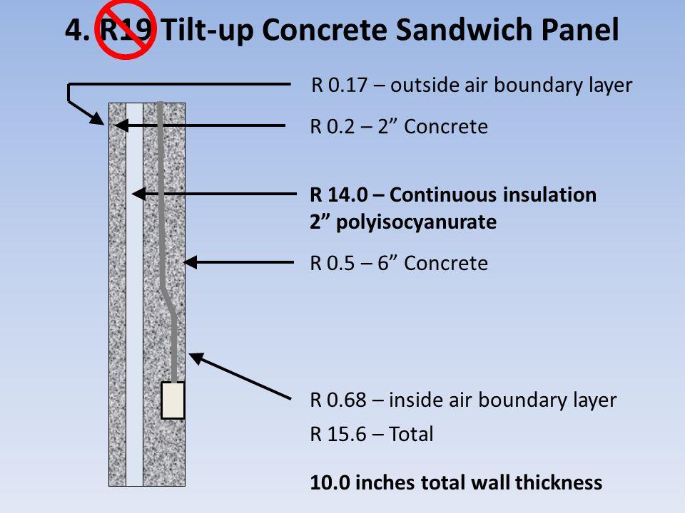 4. R19 Tilt-up Concrete Sandwich Panel