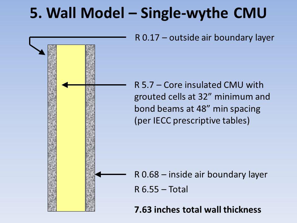 5. Wall Model – Single-wythe CMU