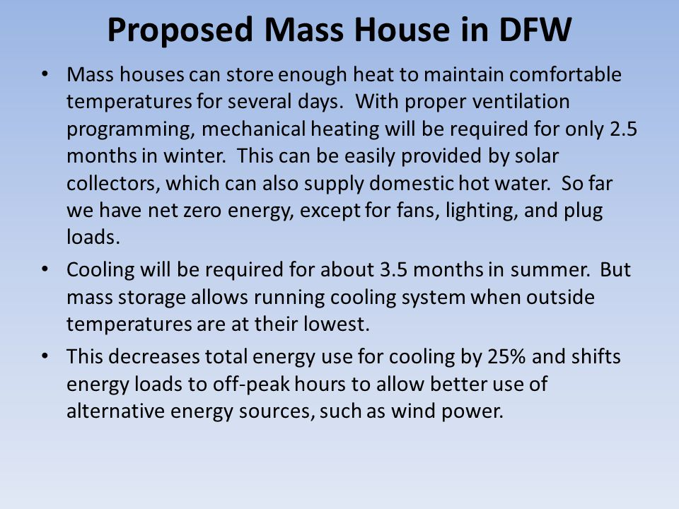 Proposed Mass House in DFW