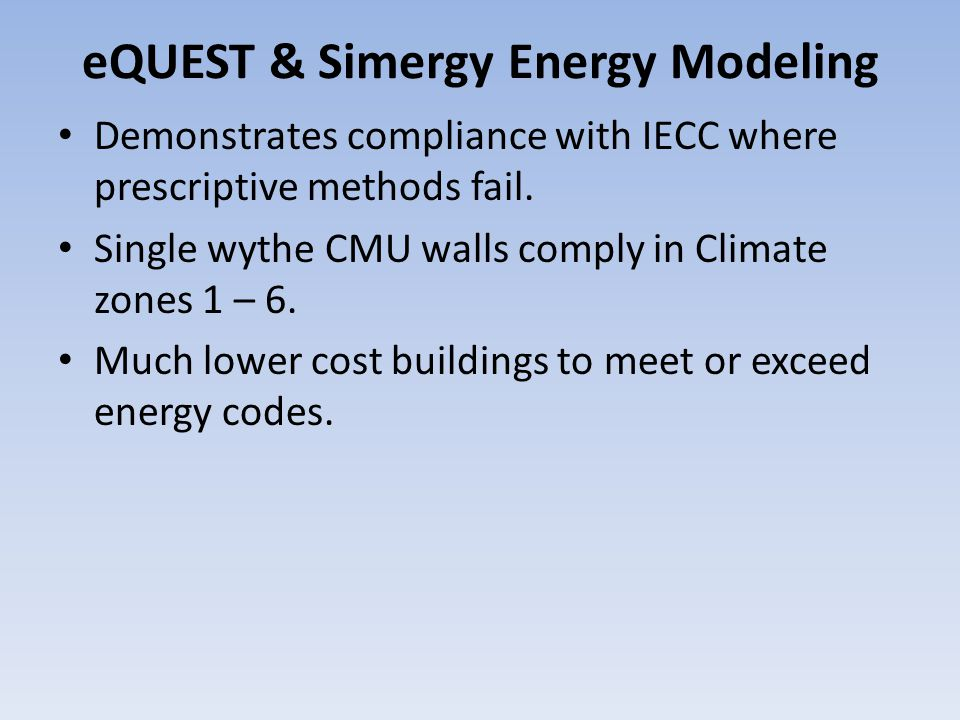 eQUEST & Simergy Energy Modeling