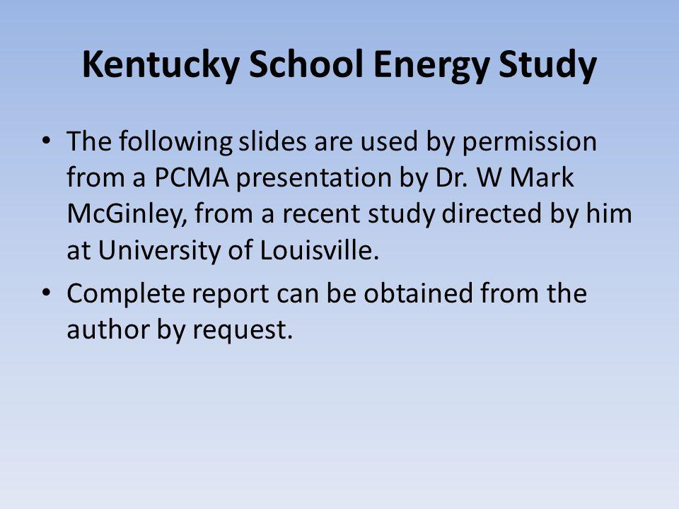 Kentucky School Energy Study