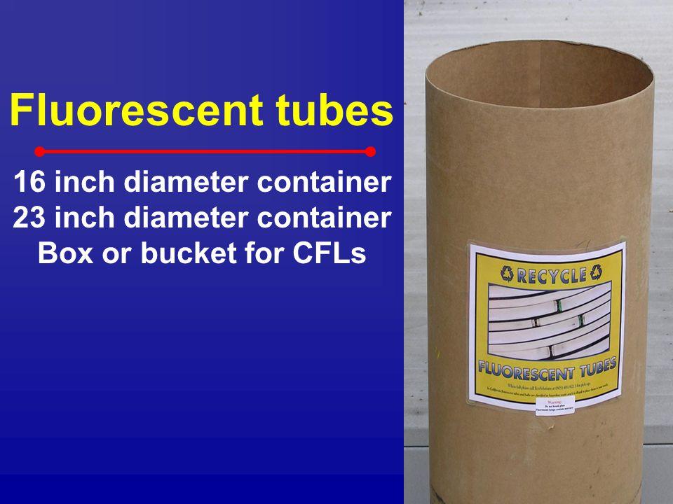 16 inch diameter container 23 inch diameter container