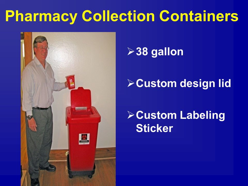 Pharmacy Collection Containers