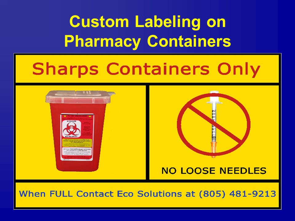 Custom Labeling on Pharmacy Containers