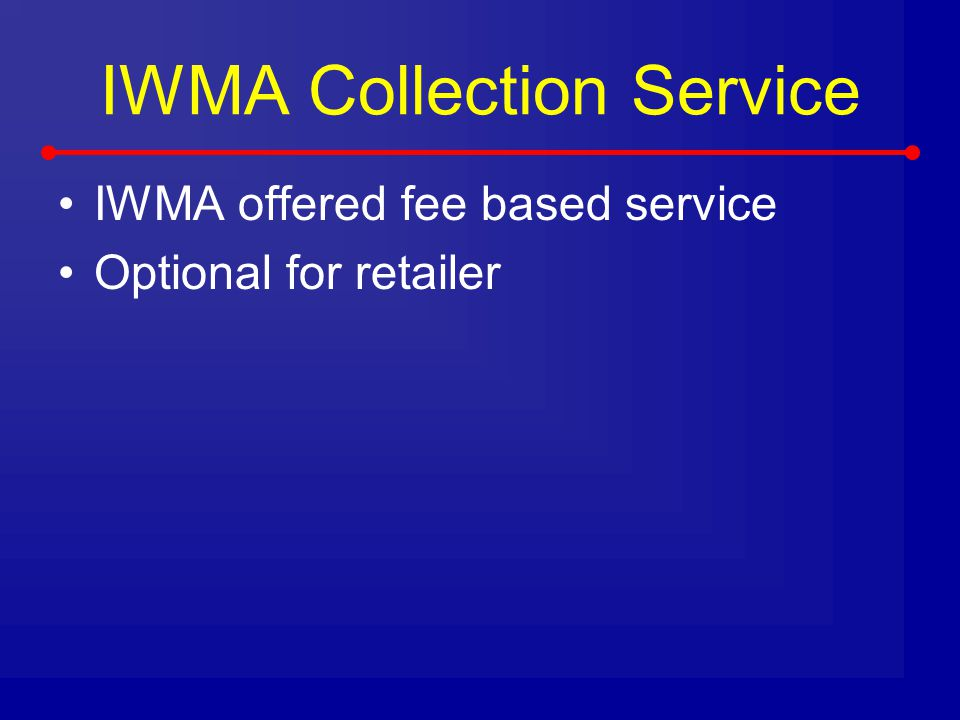 IWMA Collection Service