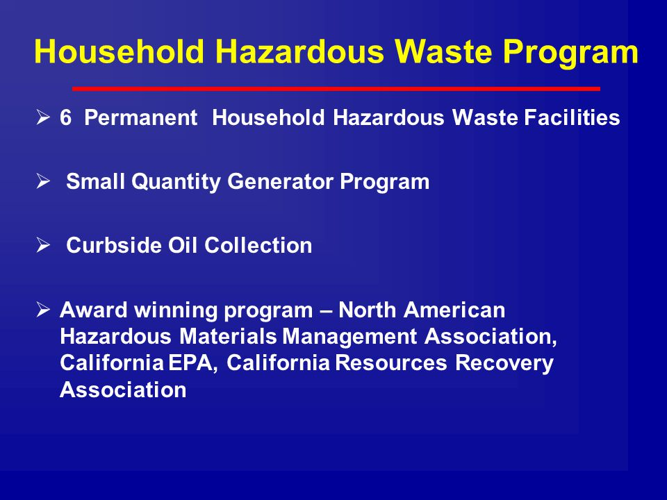 Household Hazardous Waste Program