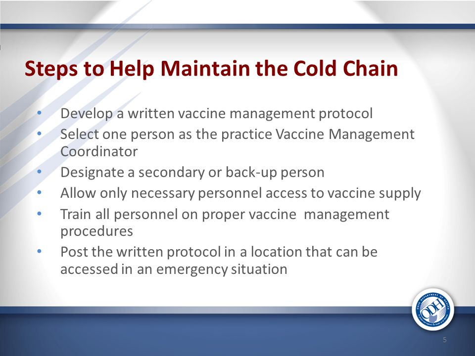 Steps to Help Maintain the Cold Chain