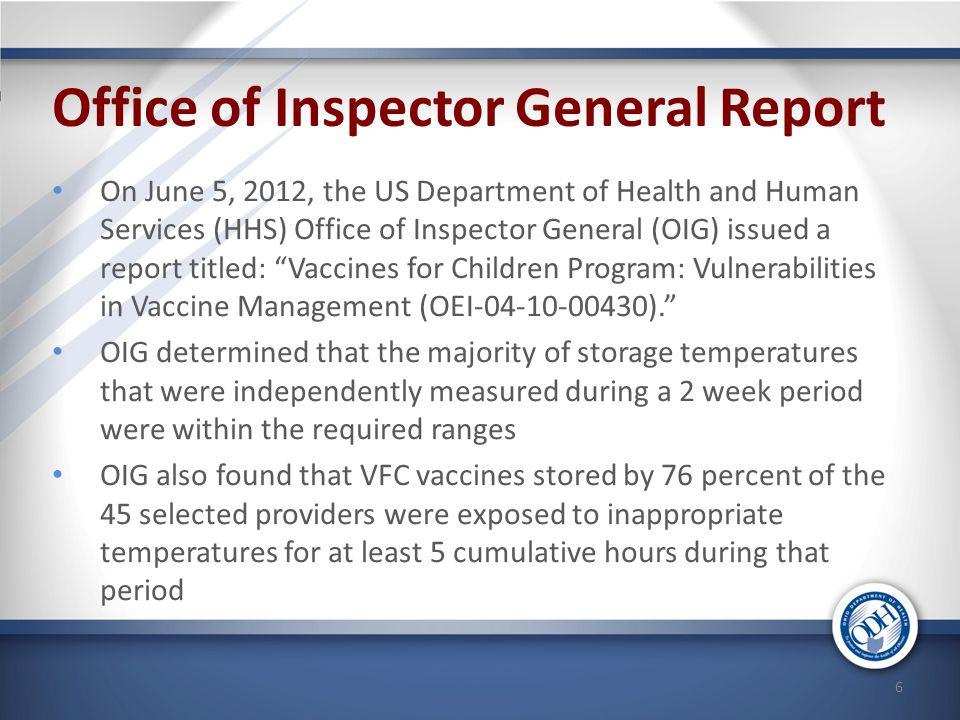 Office of Inspector General Report